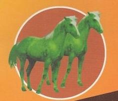 """Πράσινα άλογα, στο εξώφυλλο του βιβλίου μου """"Το αλφαβητάρι των ιδιωματικών εκφράσεων"""""""