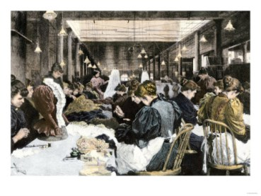 women-garment-workers-in-the-dressmaking-department-of-a-factory-about-1890